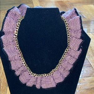 Hand knit necklace